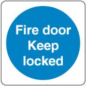 Mandatory Safety Sign - Fire Door Keep 52